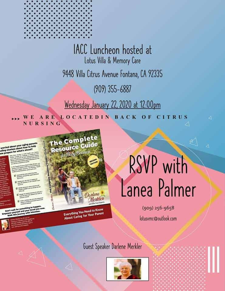 Lotus Villa Assisted Living and Memory Care to Hosts IACC Luncheon